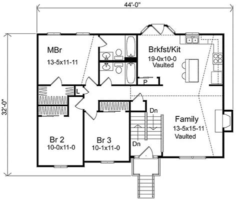 Split Level Plans | split level house plans plan w22003sl narrow lot split