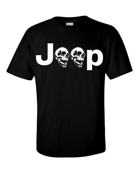 Jeeps The Logo Black T Shirt Size S black t shirt with jeep skull logo cj tj xj yj jk lj wj wrangler rubicon 4x4 rock crawler jeep