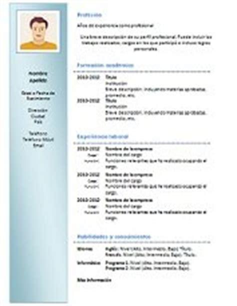 Modelo De Curriculum Vitae Moderno Para Completar 69 Modelos De Curriculum Vitae Para Descargar En Word Gratis 2018