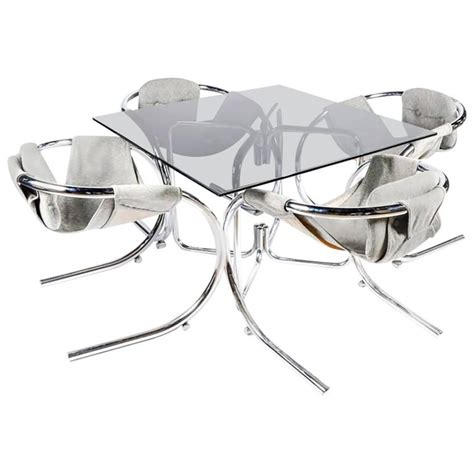 landes dining room rare sculptural byron botker for landes chrome dining set