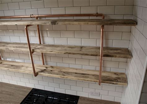Victorian Home Design Ideas by Copper Pipe Reclaimed Wood Shelving