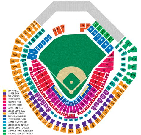 texas rangers ballpark seating map globe park in arlington seating chart globe park in arlington tickets globe