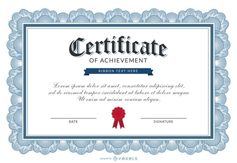 certificate of achievement template for certificate of achievement template vector