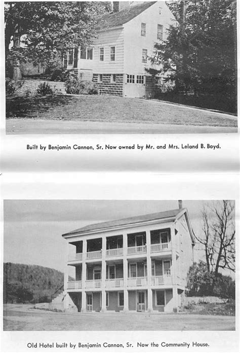 House and Old Hotel built by Benjamin Cannon Sr ...