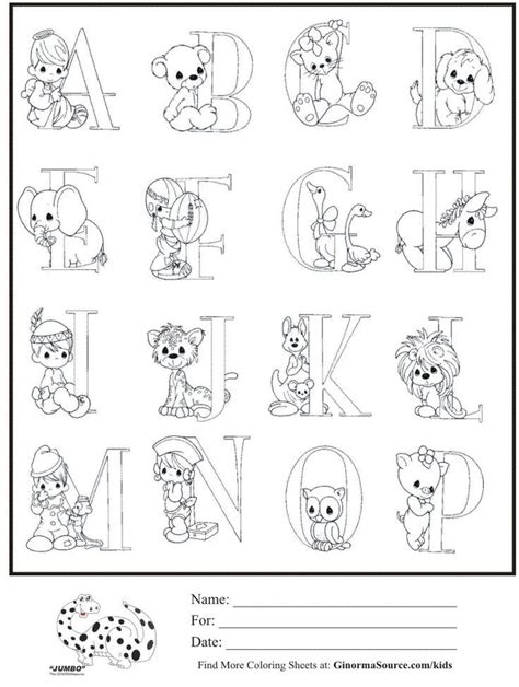 Precious Moments Alphabet Coloring Pages precious moments alphabet a z coloring pages coloring home