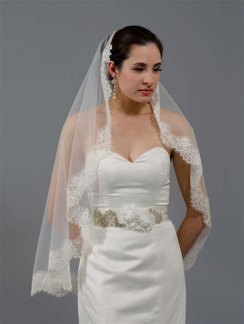 Wedding Veil by Wedding Mantilla Veil Light Ivory Bridal Veils V026