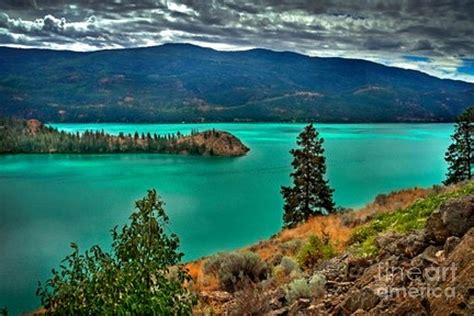 South Indian Home Decor Kalamalka Lake Colors Photograph By Rod Jellison
