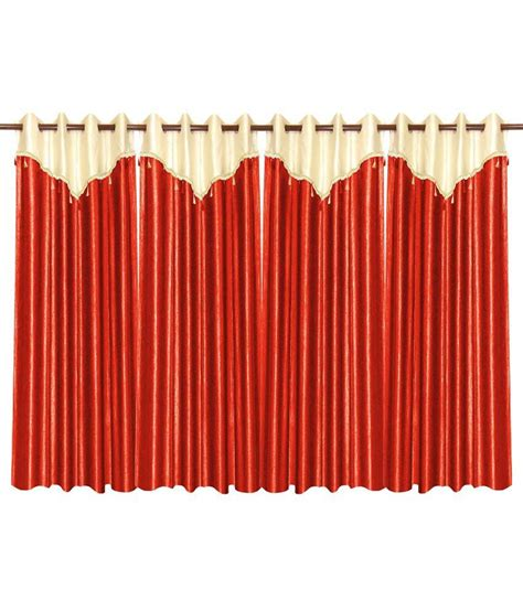 flap curtains ivory and rust curtain with flap 4 pcs set 48 x 84 inches