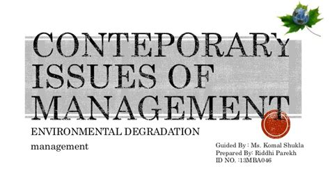 contemporary issue management contemporary issues of management