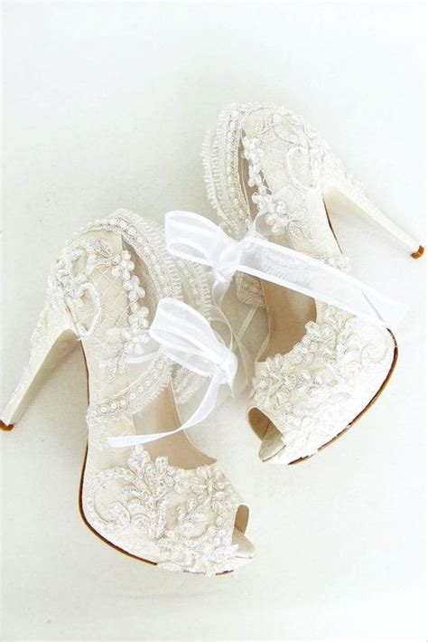 Brautschuhe Vintage Spitze by Engagement Ring Styles Lace Shoes And Wedding On