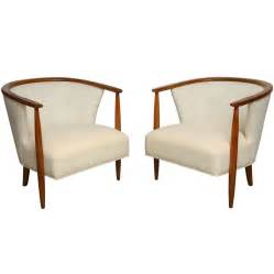 Swivel Armchairs Upholstered Pair Of Mid Century Tub Chairs At 1stdibs