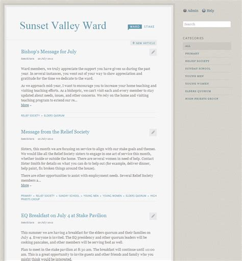 lds ward mission plan template newsletter a new tool available on lds org for