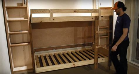 Diy Murphy Bunk Bed by How To Build A Murphy Bunk Bed Diy Projects For Everyone