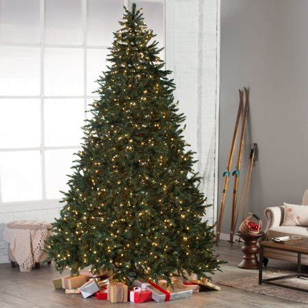 9ft christmas tree sale classic pine pre lit tree 10 ft clear walmart
