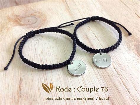 Gelang Untuk Pasangan jual gelang nama gelang pasangan nama maksimal 5