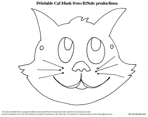 masks templates free n animal mask coloring pages