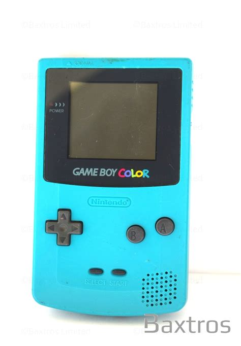 gameboy color nintendo boy color turquoise blue held console