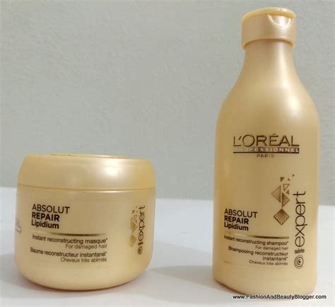 Loreal Hair Mask l oreal absolut repair lipidium shoo and masque review