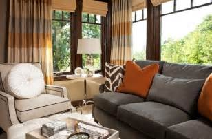 bright colored rooms gray and rust living room