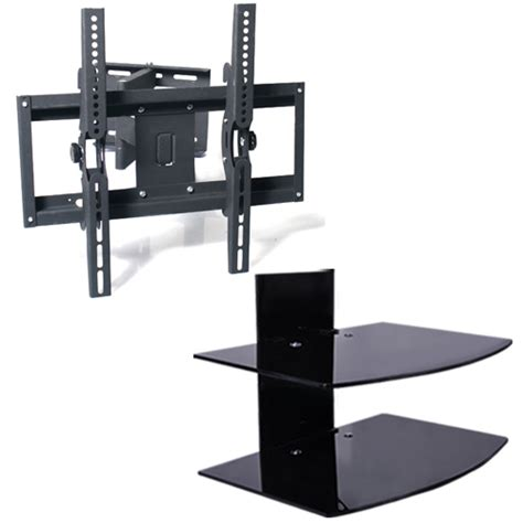 Tv Swivel Wall Mount With Shelf by Tv Mount Bracket Tilt Swivel For 17 Quot 70 Quot With Dvd Sky