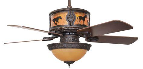 Western Ceiling Fans With Lights Cc Kvshr Brz Hs Lk420 Horses Western Ceiling Fan With Light Kit