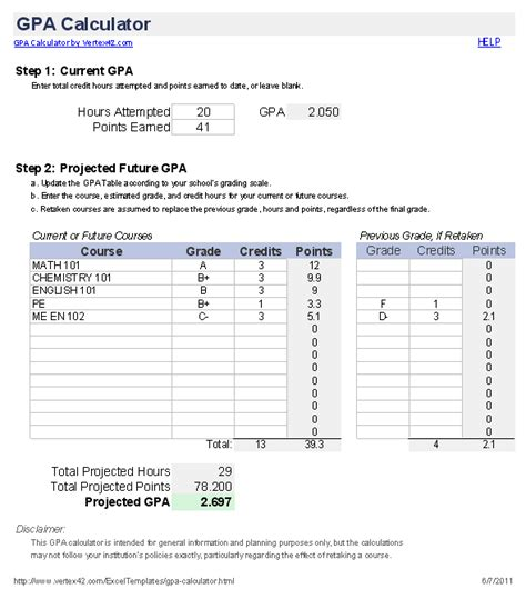 College Credit Hours Formula Free Gpa Calculator For Excel How To Calculate Gpa
