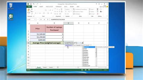 excel comfort systems how to use the excel weighted average formula in excel