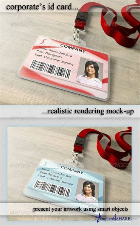 id cards templates photoshop graphicriver id card holder mockup 187 templates4share