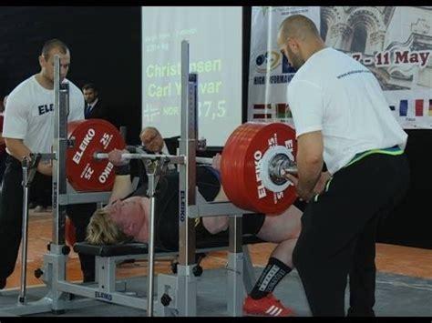 world record bench press 2014 carl yngvar christensen 337 5 kg 744 lbs bench press