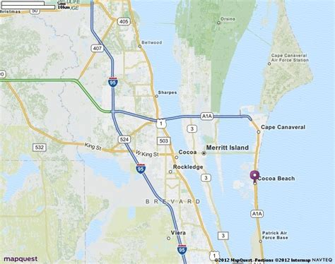 cocoa fl map mapquest places i would to
