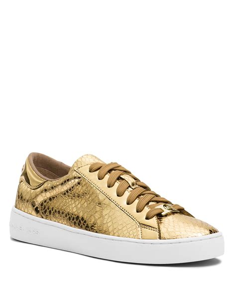 mk sneakers lyst michael michael kors lace up sneakers keaton