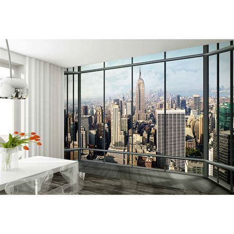 New York Skyline Wall Mural new york skyline wall mural homeware thehut com