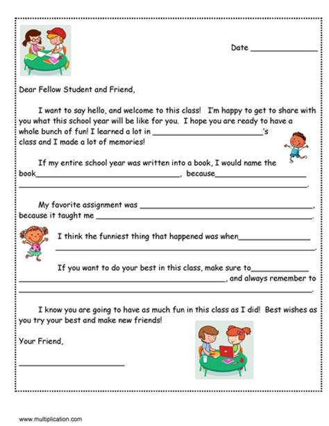writing will template a friendly letter to next year s student with free template