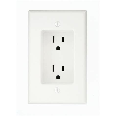leviton 15 1 recessed duplex power outlet white