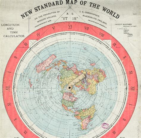 standard map 1892 flat earth map found in boston library truthbomber