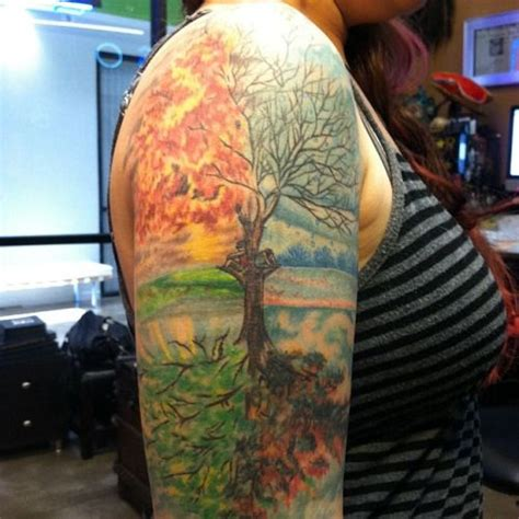 four seasons tattoos google search tattoo ideas