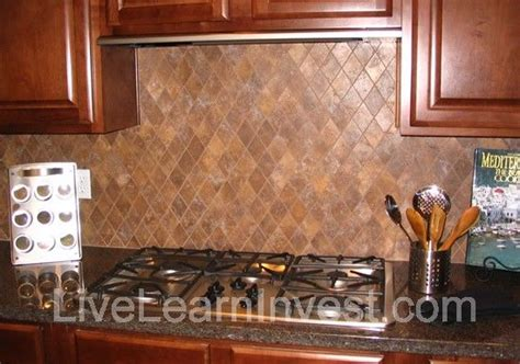 diamond pattern tile kitchen kitchen tile backsplash granite countertop diamond pattern