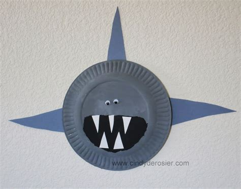 shark craft projects derosier my creative paper plate sharks