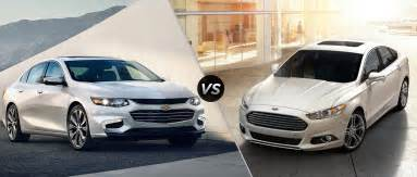 ford fusion vs chevy malibu 2017 2018 best cars reviews