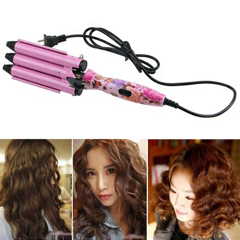 ceramic waver hair curler 3 big wave barrels 3 barrels 22mm size big hair wave curling iron hair