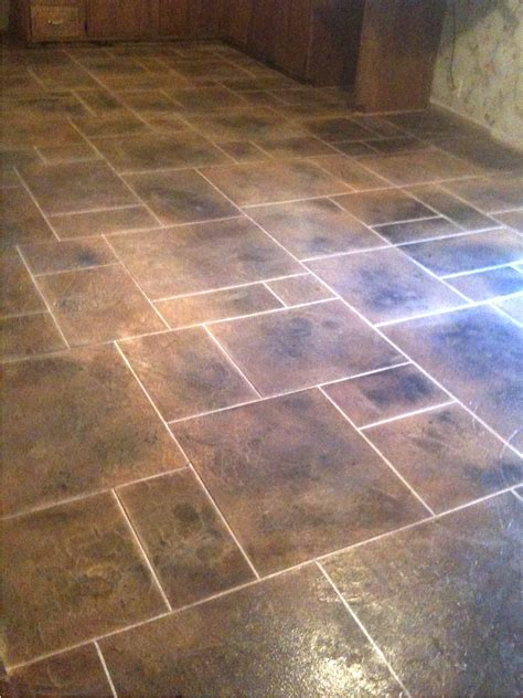 tile flooring designs kitchen floor tile patterns concrete overlay random