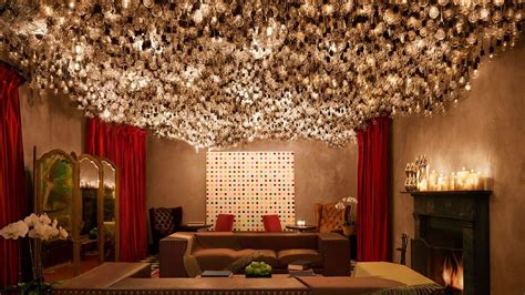 Lounge Ceiling Lighting by Gramercy Park Hotel New York United States