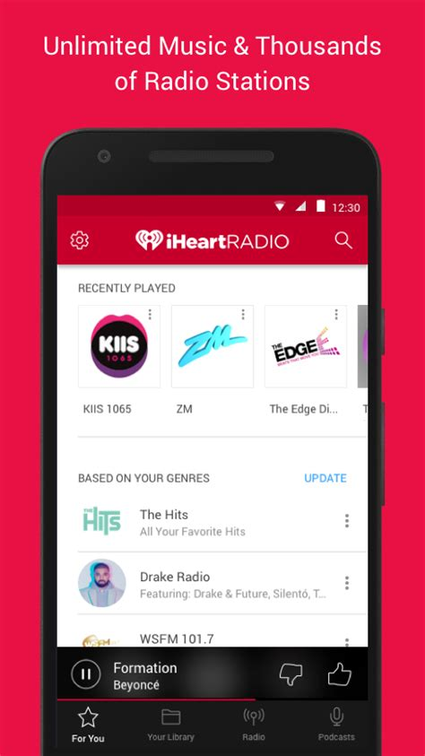 iheartradio app android free iheartradio free radio podcasts android apps op play