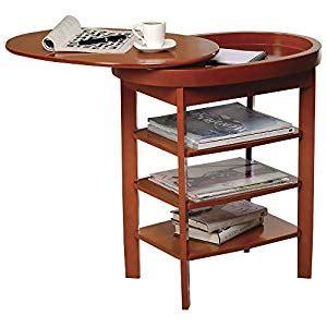 swivel top side table amazon com wooden swivel top side table coffee table