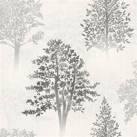 grey wallpaper with trees grey wallpaper patterned stars floral feathers trees
