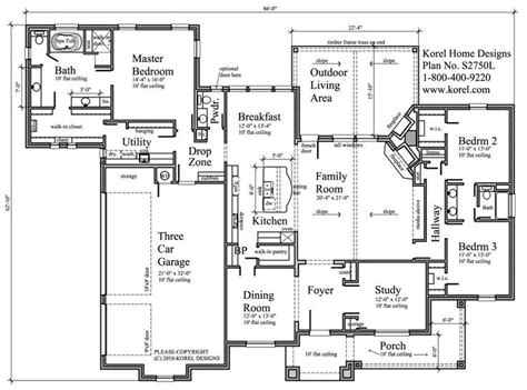 Single Story House Plans Without Garage 144 best house plans images on pinterest house floor