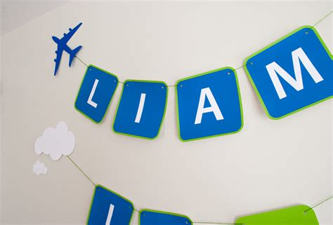 free printable airplane banner printable airplane personalized birthday party banner for