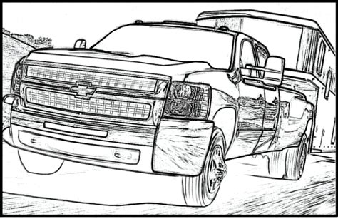 chevy trucks coloring page chevy silverado truck printable coloring pages for kids