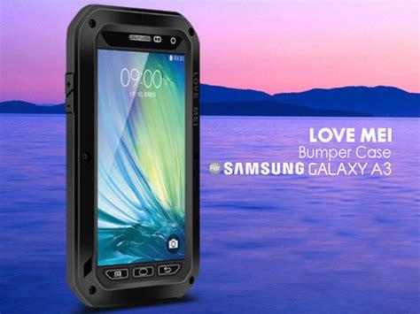 Bumper Samsung Galaxy A3 A 3 Alumunium Side And Backcase 3 mei samsung galaxy a3 powerful bumper