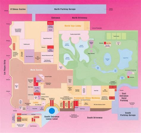 Eiffel Tower Floor Plan flamingo hotel map flamingo las vegas map